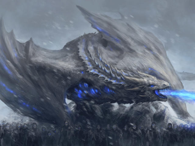 White Walkers Dragon Game Of Thrones Wallpaper Hd Movies