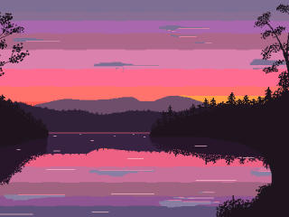 16 Bit Sunset wallpaper