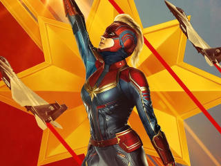 2019 Captain Marvel Artwork wallpaper