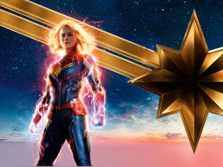 2019 New Captain Marvel Poster wallpaper