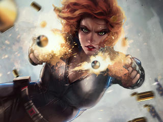 2020 Black Widow Art wallpaper