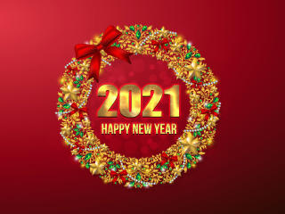 2021 New Year Greeting wallpaper