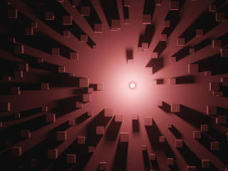 3D Brown Cube wallpaper