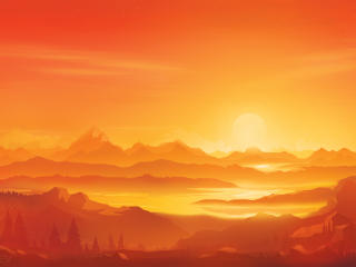 4K Artistic Sunset 2021 wallpaper
