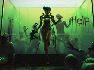 4K Cyborg Girl wallpaper