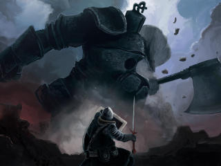 4K Dark Souls Iron Golem wallpaper