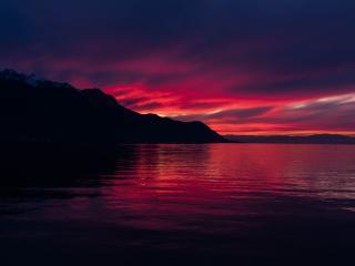 4K Dark Sunset wallpaper