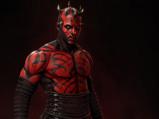 4k Darth Maul Mandalorian Inspire Art wallpaper