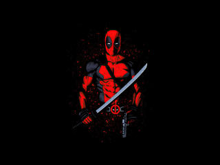 4k Deadpool Minimalism 2020 wallpaper