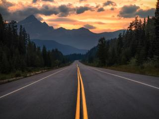 4K Empty Road New wallpaper