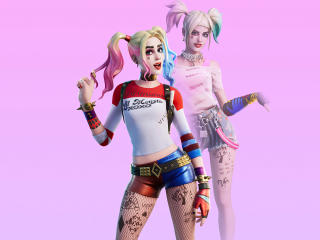 4K Harley Quinn Fortnite Skin Outfit wallpaper