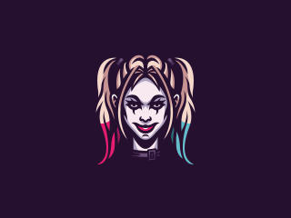 4k Harley Quinn Minimal Art wallpaper
