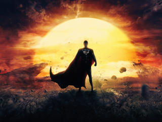 4K Man Of Steel Superman wallpaper