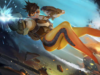 4k Tracer Overwatch wallpaper