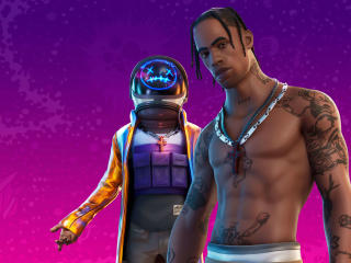 4K Travis Scott Astronomical Fortnite 2 wallpaper