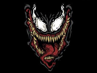 4k Venom Minimalism wallpaper