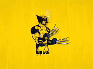 4k Wolverine Minimal wallpaper