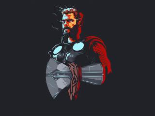 5k Thor Minimalism wallpaper