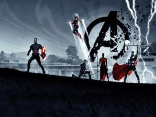 8K Avengers Endgame Poster wallpaper