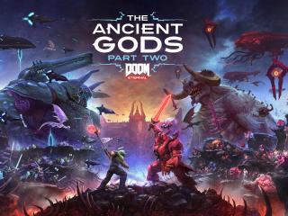 8K Doom Eternal The Ancient Gods Part 2 wallpaper
