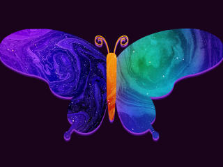 A Colorful Abstract Butterfly wallpaper