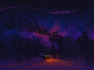 A Dreamy Christmas Night wallpaper