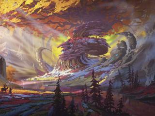 A Mysterious Forest Art wallpaper