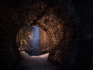 A Tunnel 8K Secret Passage wallpaper