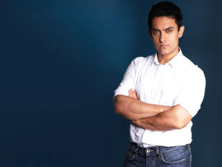 HD Wallpaper | Background Image Aamir Khan In White Shirt New Pics 2014
