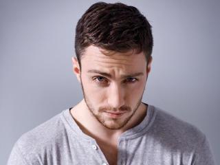 aaron taylor-johnson, actor, face wallpaper