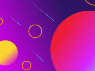 Abstract Purple and Yellow Circles wallpaper