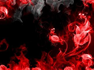Abstraction Red Smoke wallpaper