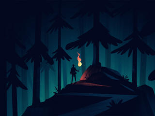 Adventures Lonely Night out wallpaper