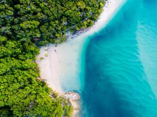 Aerial Beach Photography wallpaper