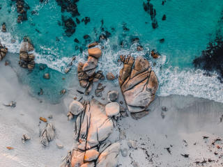 Aerial Beach Rock View wallpaper
