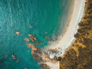 Aerial View Of Ocean wallpaper