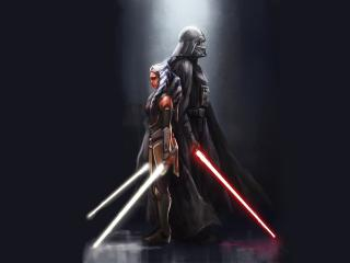 Ahsoka Tano x Darth Vader wallpaper