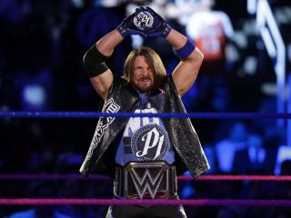 HD Wallpaper | Background Image AJ Styles as WWE Champ