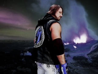 HD Wallpaper | Background Image AJ Styles Portrait Photoshoot