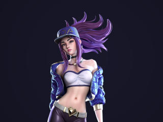 Akali League Of Legends Artwork wallpaper