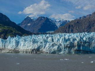 alaska, mountains, ice floes wallpaper