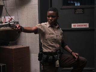 Alexis Louder in Copshop Movie wallpaper