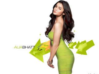 Alia Bhatt In Green Top  wallpaper