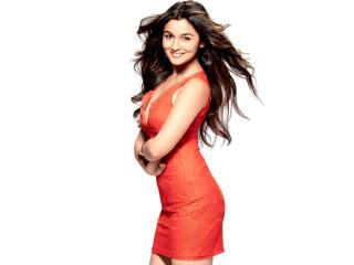 Alia Bhatt New Photos In Orange wallpaper