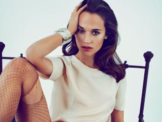 Alicia Vikander Hot Photoshoot wallpaper