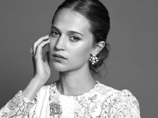 Alicia Vikander Zurich Film Festival Monochrome Photoshoot 2017 wallpaper