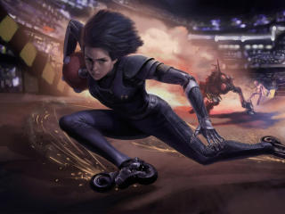 Alita From Battle Angel wallpaper