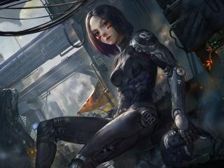 Alita in Battle Angel wallpaper