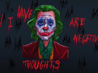 All I have are Negative Thoughts Joker wallpaper