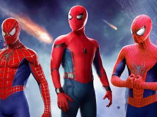 All Spider-Man in No Way Home Digital FanArt wallpaper